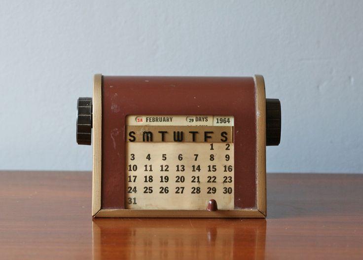 A Vintage Perpetual Desk Calendar. - 12 Best Calendars Images On Pinterest History, Perpetual Calendar