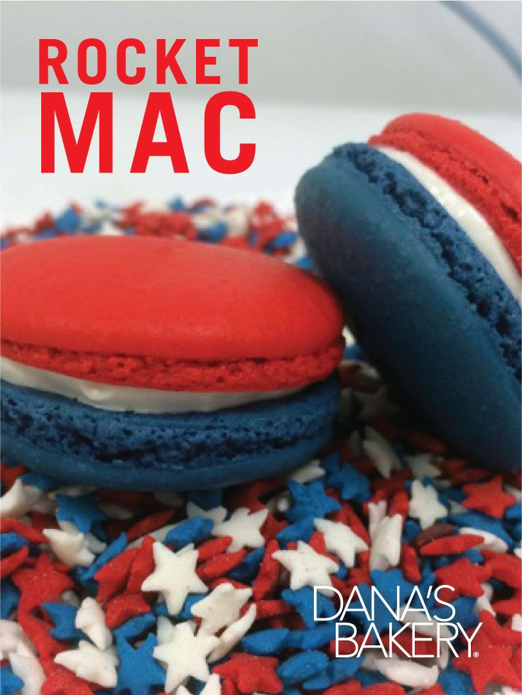 4th of july macarons recipe