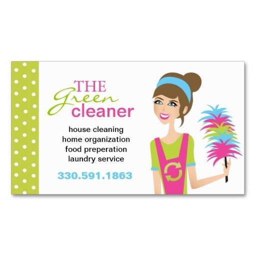 Eco friendly cleaning services business cards make your for Business cards for cleaning services