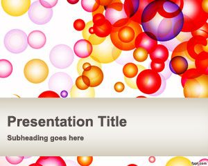 Free Bubbles PowerPoint Template is an original slide design for presentations that you can download to prepare awesome PowerPoint slides with unique bubbles background #bubbles #powerpoint #abstract