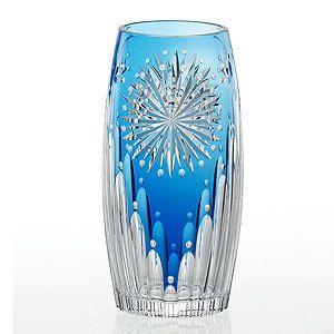** Váza - modré, broušené sklo ♣ Kiriko **