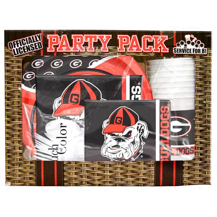 Georgia Bulldogs Game Day Party Pack - $18.39