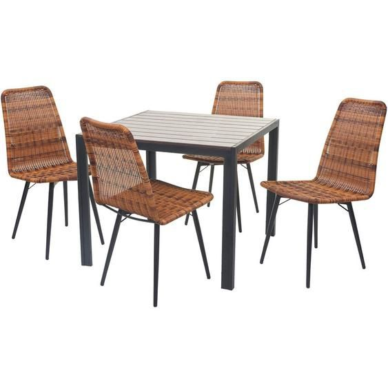 Gartengarnitur Hhg 602 Sitzgruppe Balkon Set Wpc Tischplatte