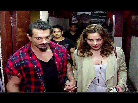 Karan Singh Grover & Bipasha Basu on a movie date at Juhu PVR.