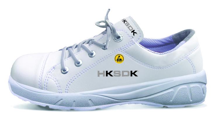 HKSDK model H6 er en all-round sko til kvinder i den hvide sektor. Som alle sikkerhedssko i vores program er H6 udstyret med vores velkendte AIR-sål som garanterer komfort og velvære dagen lang. Denne model har ikke sømværn.