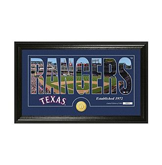 "MLB® Texas Rangers ""Silhouette"" Panoramic Bronze Coin Photo Mint"
