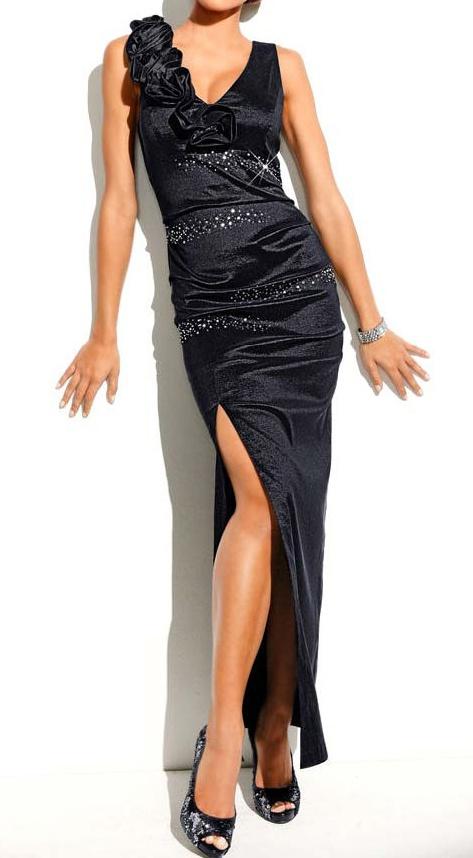 robe femme de soiree cocktail noir avec strass marque With robe de cocktail combiné avec casquette noire femme