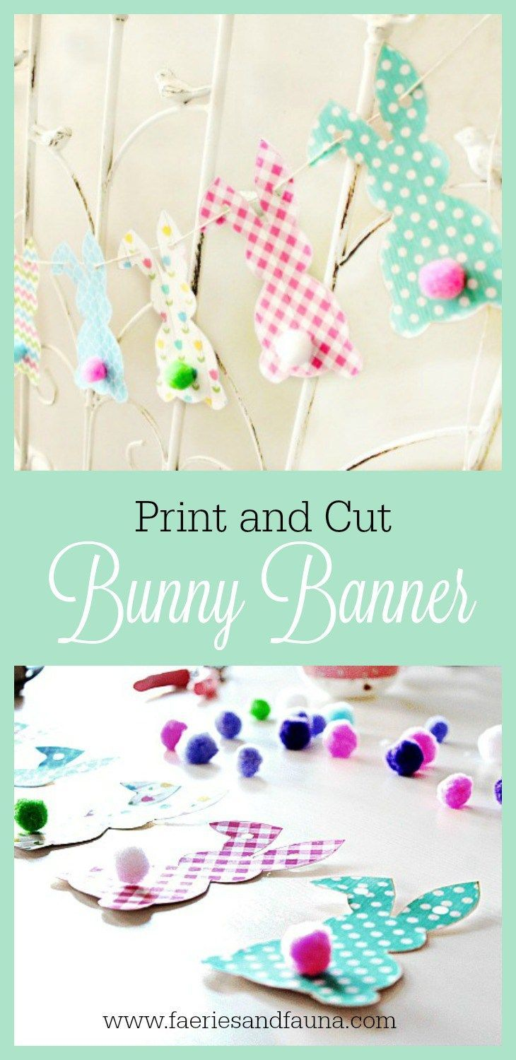 free easter bunny banner printable - Easter Home Decorations