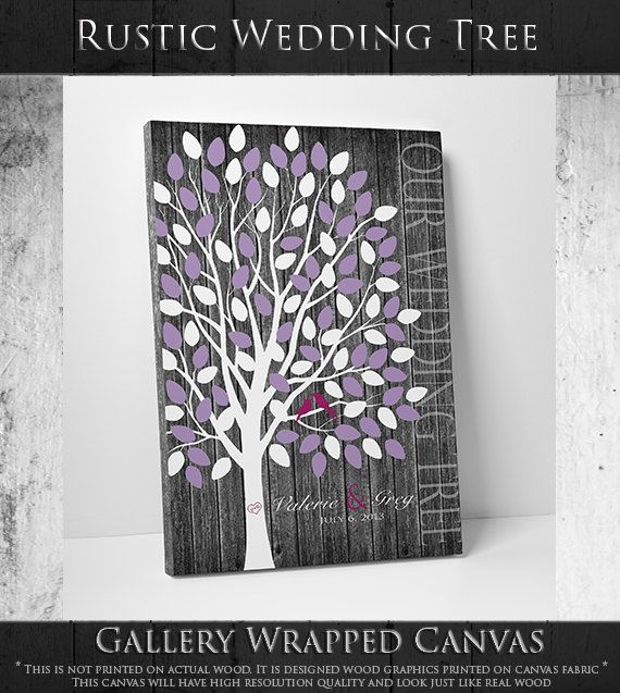 Rustic Wedding Guest Book // Rustic Guest by WeddingTreePrints, $28.00