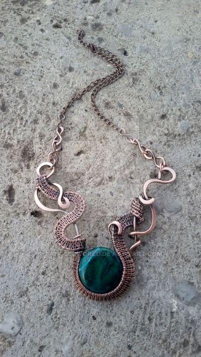 Ожерелье из медной проволоки из TangledWorld