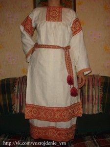 Как сшить русскую женскую рубаху — подробная статья с фото