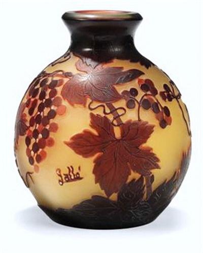 Cameo Vase By Emile Galle Art Nouveau By Emile Galle