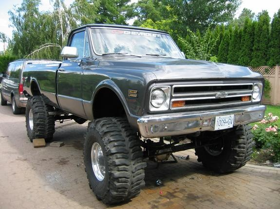 68 Chevy jacked up! Early Bday gift for hubby???