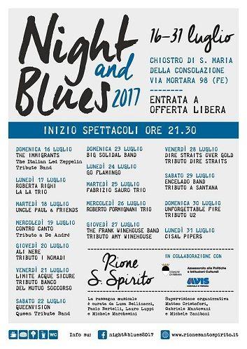 Night&blues due settimane di immersione nella musica scritta dai grandi protagonisti della scena italiana e internazionale