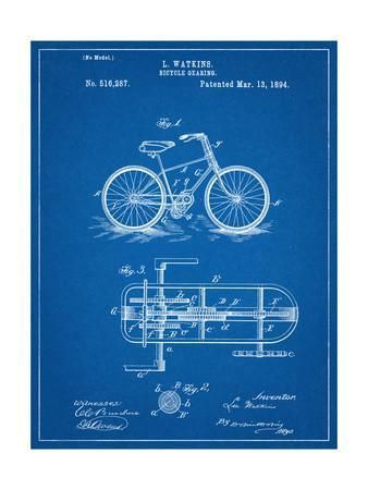 Bicycle Gearing Patent Art Print at Art.com #patentartposters