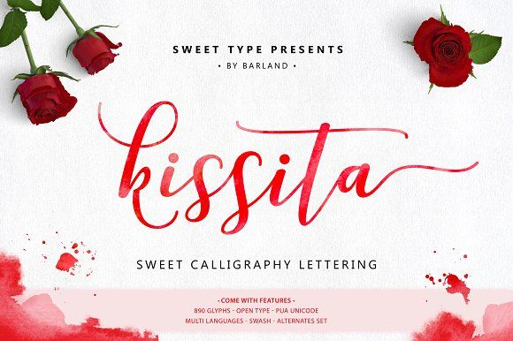 Kissita Script - 40% OFF by Barland on @creativemarket
