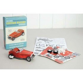 Vintage red racing car...  This 28 piece click together model is easy to assemble and requires no scissors or glue. Perfect mess free fun! £3.99