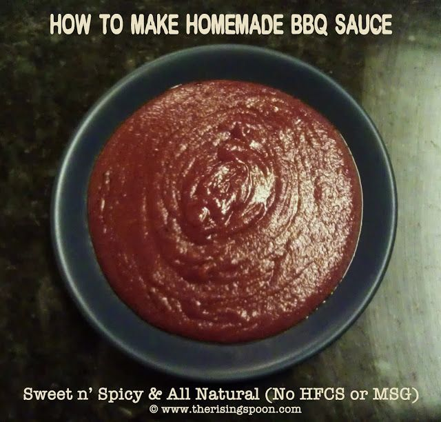 The Rising Spoon: Homemade Sweet n' Spicy Kansas City-Style BBQ Sauce vegan if you sub vegan butter and vegan Worcestershire (Amy's is vegan)