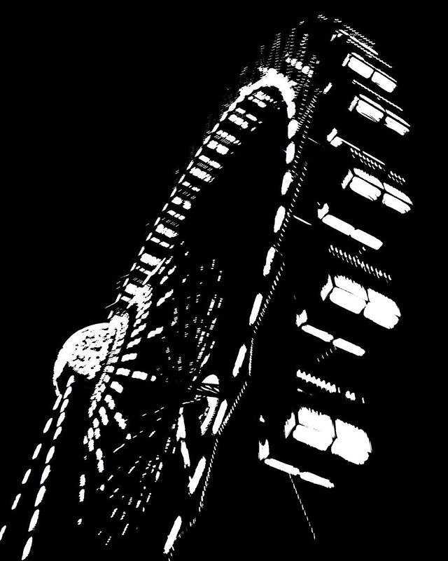 High contrast big wheel Berlin #blackandwhite #bigwheel #berlin #germany