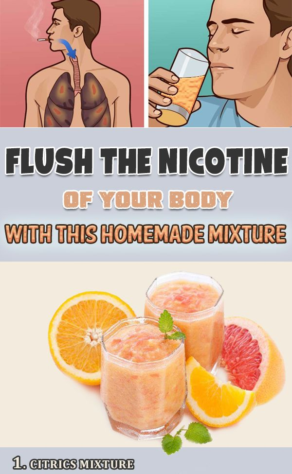 Flush The Nicotine Out Of Your Body With This Homemade