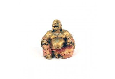 Statue Bouddha Rieur 15 cm en résine