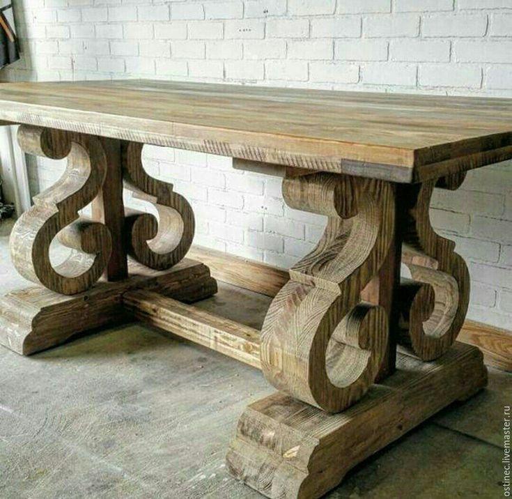 Купить необычный обеденный стол из массива ясеня или дуба Нэлли в интернет магазине на Ярмарке Мастеров