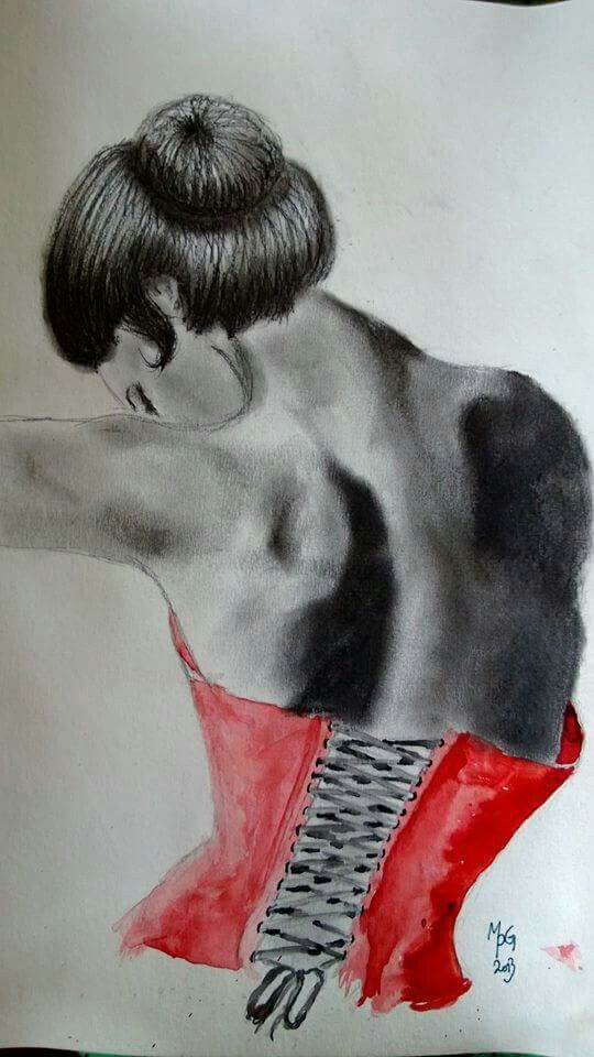 Red korset made by Mille Puk Grube 2013. Www.mpg-art.dk