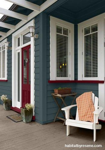 1 house, 4 ways: exterior | Habitat by Resene | 1 house, 4 ways: exterior