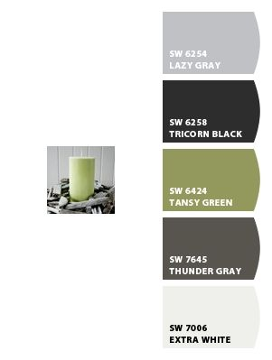 Greens & Grays--Paint colors from Chip It! by Sherwin-Williams