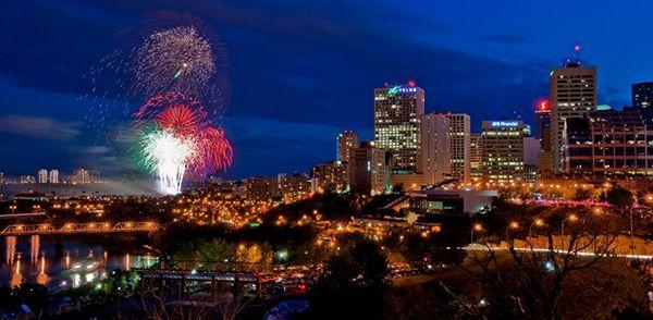 Edmonton Canada Day Fireworks #YEG