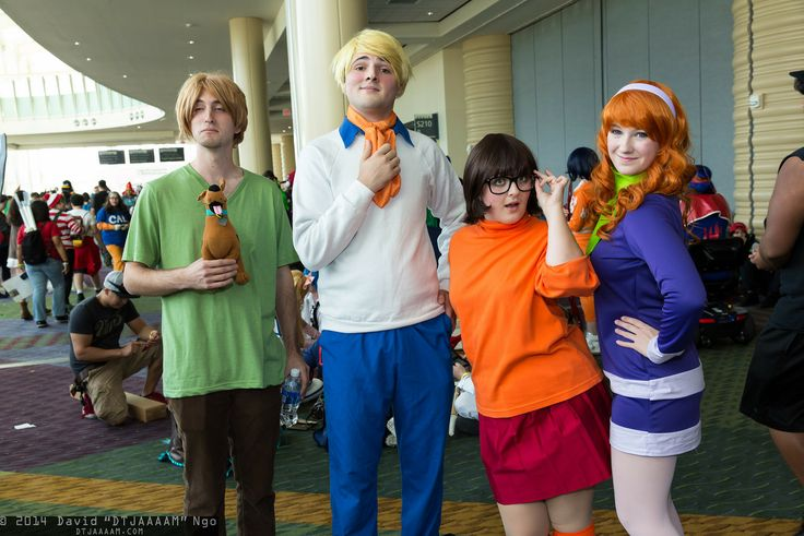 Shaggy Rogers, Fred Jones, Velma Dinkley, Daphne Blake, and Scooby-Doo #MegaCon2014