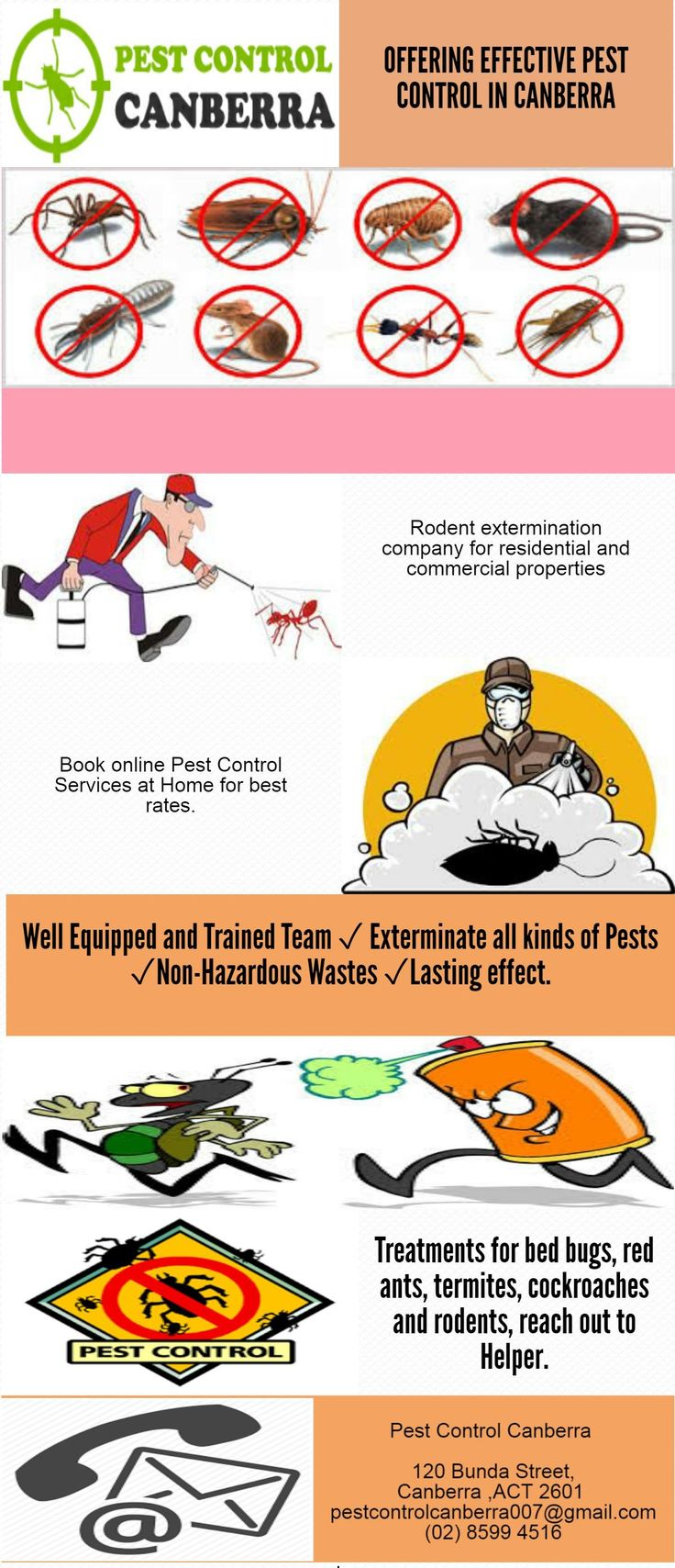 Best Pest Control in Canberra is considered as one of the best places to monitor the virus. Pest is the bugs that decimate your home, and business moreover affects your wellbeing. To know more visit us at 120 Bunda Street, Canberra, Australian Capital Territory 2601 or Call us at 0261300747.