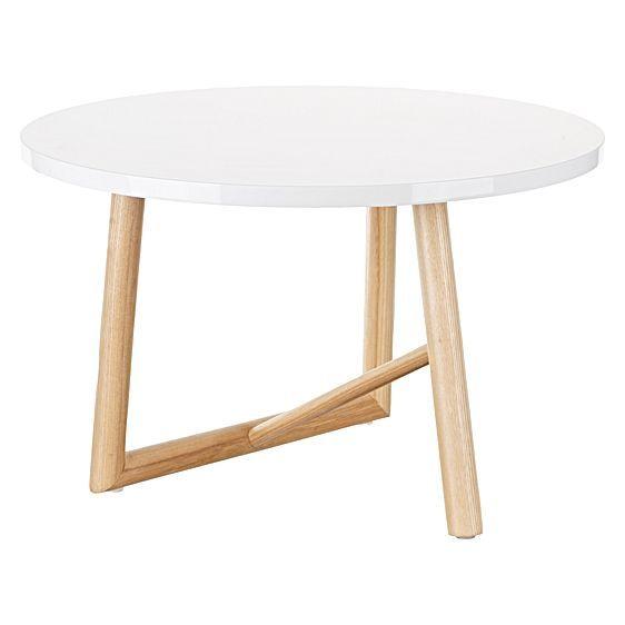 Bastian White Coffee Table by Zanui