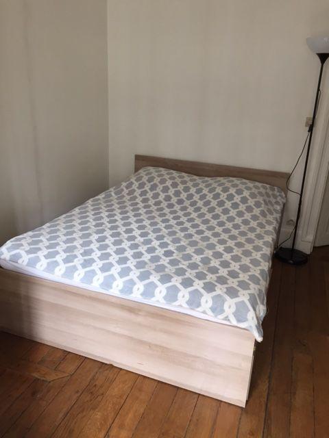 Annonce vente lit rangement avec matelas et sommier neuf je vends un lit quasi neuf : meubles à vendre sur ParuVendu Mondebarras WB156372657