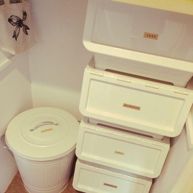 キッチン ゴミ箱 Ikea カインズホーム 分別 などのインテリア実例