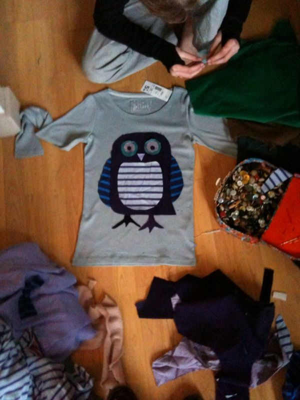 Tambouille» Tee-shirt custom, hibou