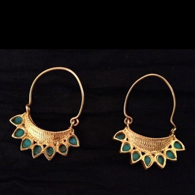 Indian earrings with meenakaari