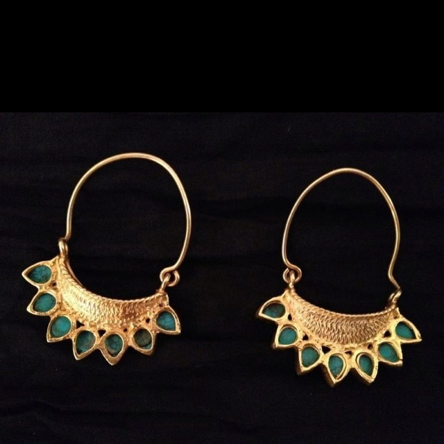 Indian earrings with meenakaari