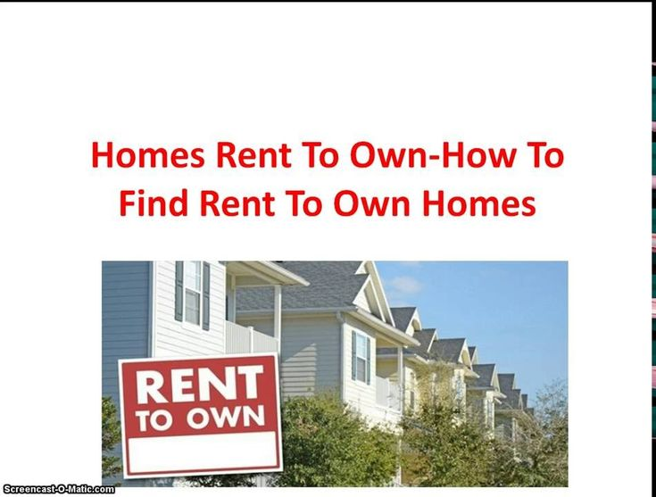 Visit: http://www.clkmr.com/digitaffiliate/renttoown for more information on rent to own homes in your area and listings that you can qualify for.  Are you looking for homes that have a rent to own option in your area? If so, then there's a few things you should know first before you decide to leas a home.