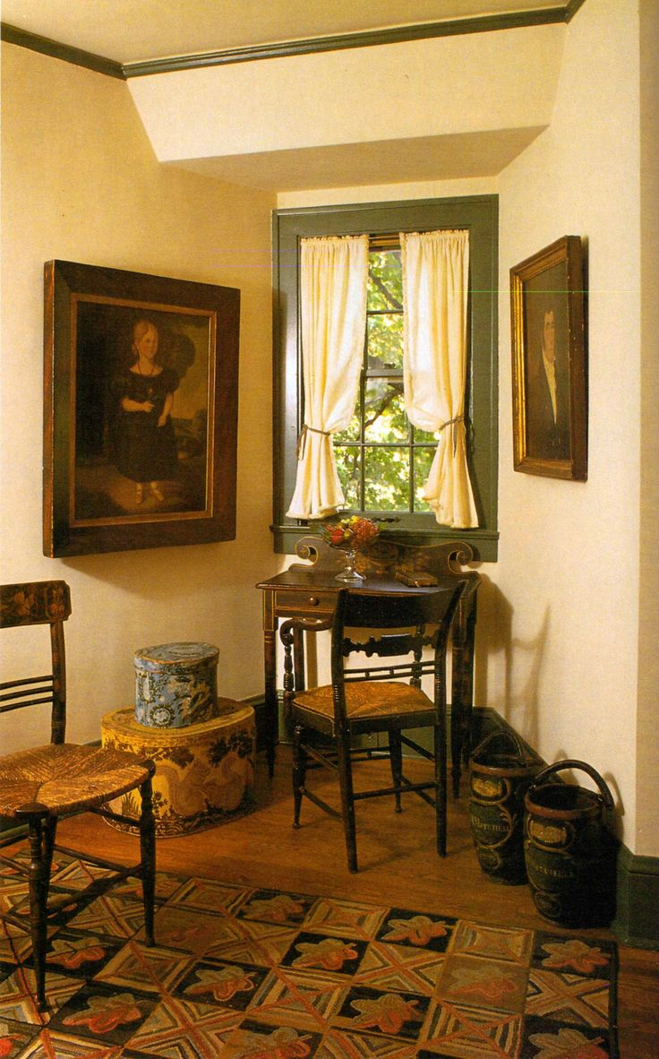 Primitive living room furniture - Find This Pin And More On Primitive Rooms Colonial Folk Art