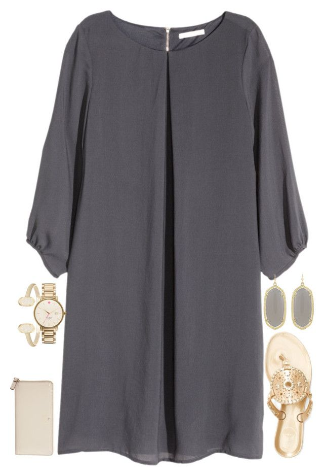 """""""Bid Day"""" by carolinaprep137 on Polyvore featuring H&M, Kate Spade, Kendra Scott and Jack Rogers"""