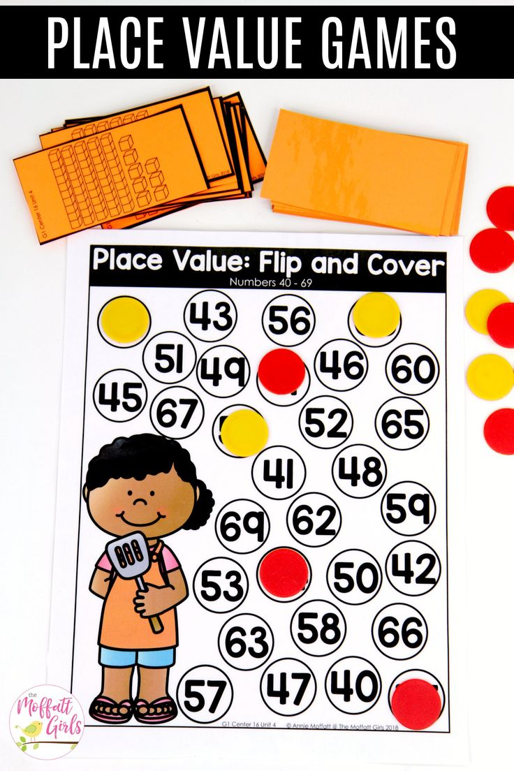 Flip and Cover: This fun 1st Grade Math activity helps students understand place values and the meaning of a number in a hands-on way!