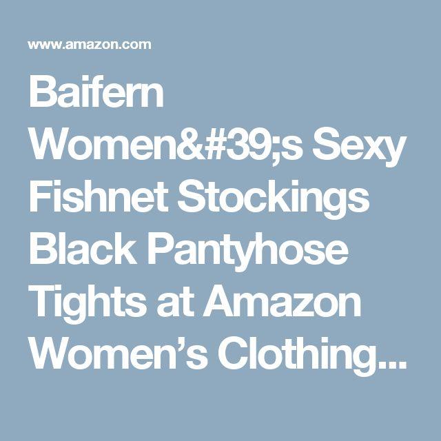 Baifern Women's Sexy Fishnet Stockings Black Pantyhose Tights at Amazon Women's Clothing store: