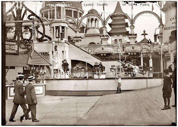Wonderful Luna Park In Black And White. Photo