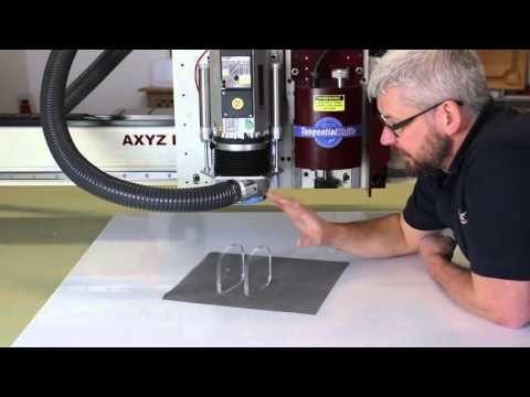 DIY homebuilt 3 axis CNC router,  CUTTING ALUMINUM - YouTube