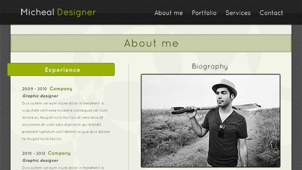 Simple Portfolio Web Template
