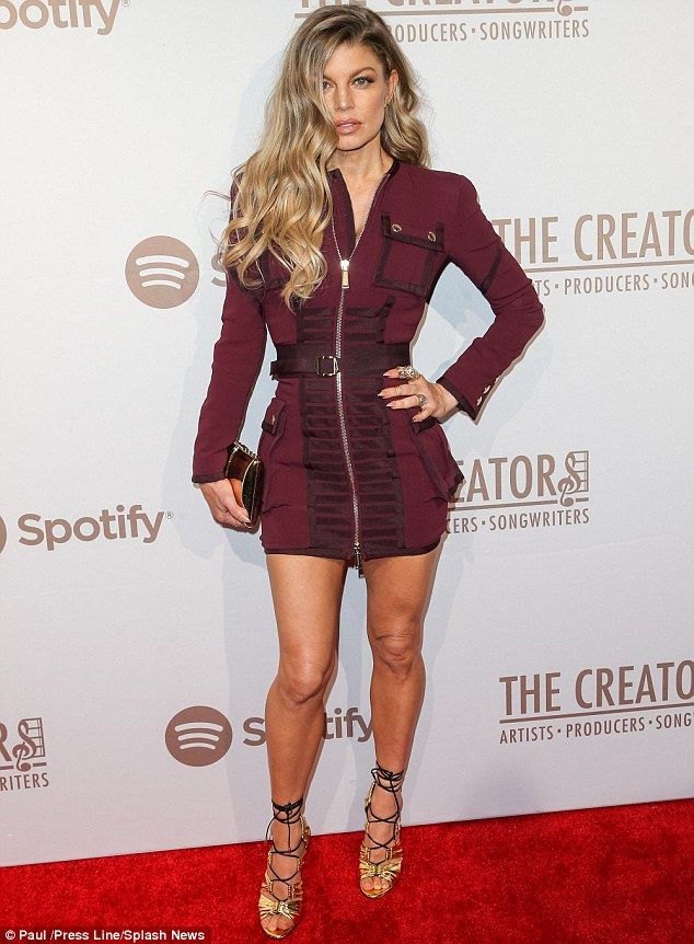 Hiding those Humps: Fergie chose instead to draw attention to her toned thighs by wearing ...