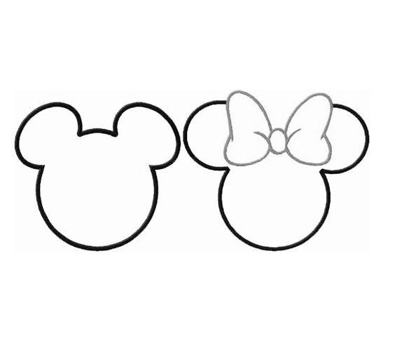 découpe Mickey et Minie pour scrapbooking carterie.... : Embellissements par didine45 ...