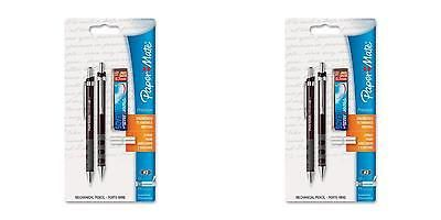 Mechanical Pencil Starter Set 0.7mm Brown 2 Sets Template Drawing Drafting Write