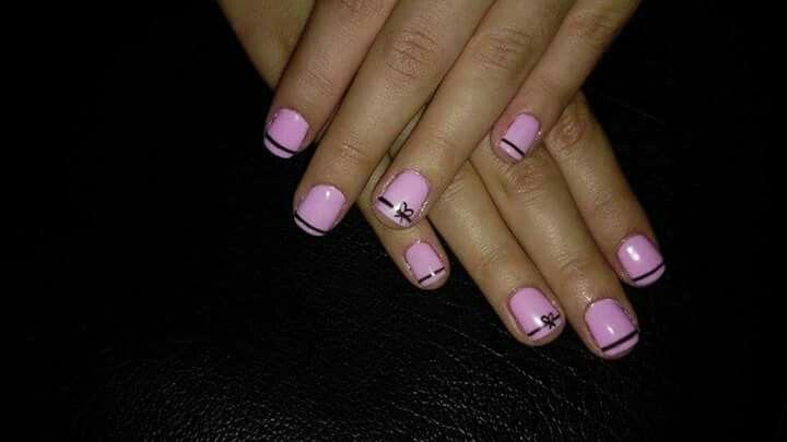 #nailart #naildesigns #pink #nails #with #bows